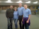 "Robert Amaya, from the movie ""Courageous"" with me, my husband and son."